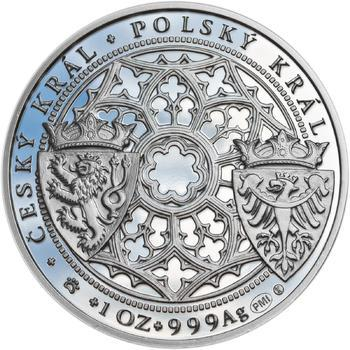 Korunovace Václava II. českým králem  - stříbro Proof - 2