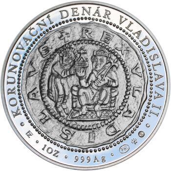 Korunovace Vladislava II. českým králem - stříbro Proof - 2