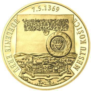 Erb Košice - 1/2 Oz zlato Proof - 2