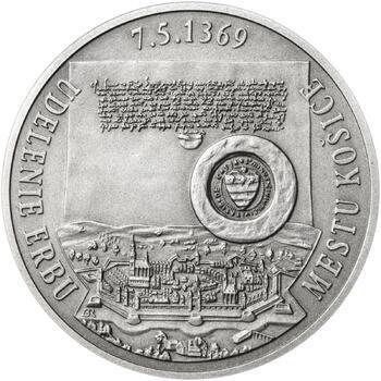 Erb Košice - 28 mm stříbro patina - 2
