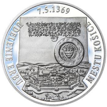 Erb Košice - 28 mm stříbro Proof - 2