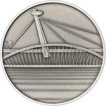 Bratislava - stříbro 1 Oz patina - 2