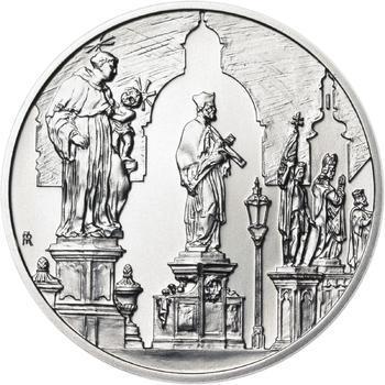 Královské hlavní město Praha - stříbro 28 mm b.k. - 2