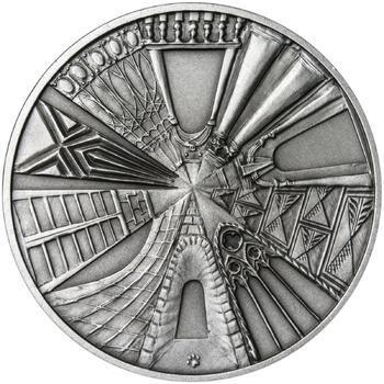 Praha - stříbro 1 Oz patina - 2