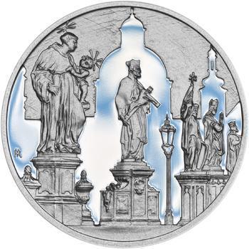 Královské hlavní město Praha - stříbro 28 mm Proof - 2
