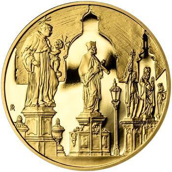 Královské hlavní město Praha - zlato 1/2 Oz Proof - 2
