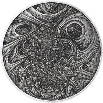 Fraktály II. - stříbro patina - 2