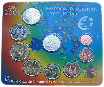 Sada mincí Španělsko 2008 Unc - Andalucia - 2