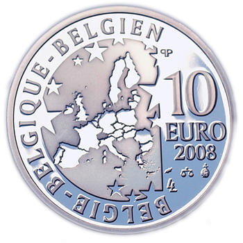 Olympic Games  Ag 10 EUR Proof Belg. 08 - 2