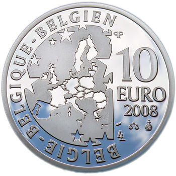 Maeterlinck Ag 10 EUR Proof Belg. 08 - 2