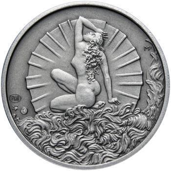 Venuše 25 mm stříbro patina - 2