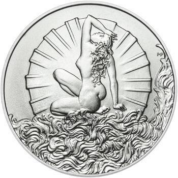 Venuše 25 mm stříbro b.k. - 2