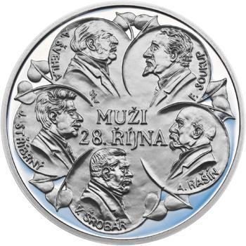Muži 28. října - stříbro 1 Oz Proof - 2