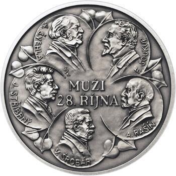 Muži 28. října - stříbro 1 Oz patina - 2