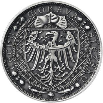 Lev a Orlice - stříbro malá patina - 2