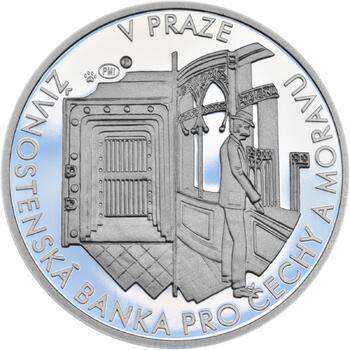 První česká banka - Živnostenská banka pro Čechy a Moravu - 1 Oz stříbro Proof - 2