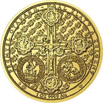 750 let od založení Menšího Města pražského Přemyslem Otakarem II. - zlato b.k. - 2
