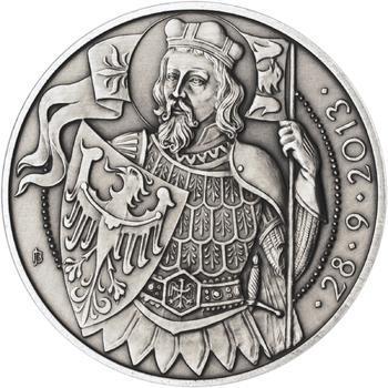 Relikvie Sv. Václava - vzor 1 - 1 Oz Ag patina - 2