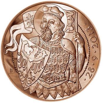 Relikvie Sv. Václava - vzor 1 -  1 Oz Měď b.k. - 2