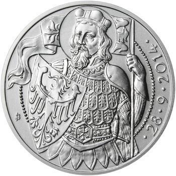 Relikvie Sv. Václava - vzor 1 - 1 Oz Ag REVERSE Proof - 2