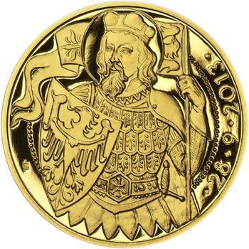 Relikvie Sv. Václava - vzor 1 -  1/2 Oz zlato Proof - 2