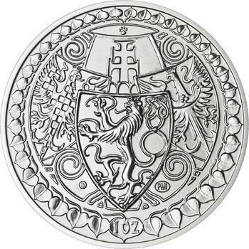 Vznik ČSR - stříbro 1 Oz b.k. - 2