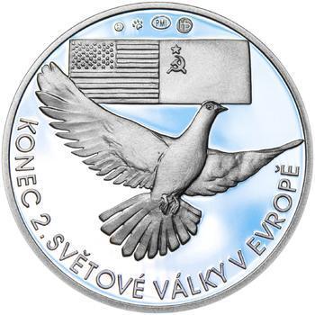 Osvobození Československa 8.5.1945 - 28 mm stříbro Proof - 2