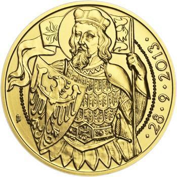 Relikvie Sv. Václava - vzor 1 -  1/2 Oz zlato b.k. - 2