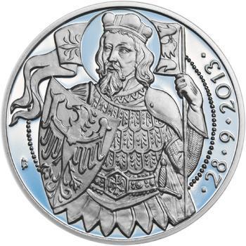 Relikvie Sv. Václava - vzor 1 - Ag malá Proof - 2