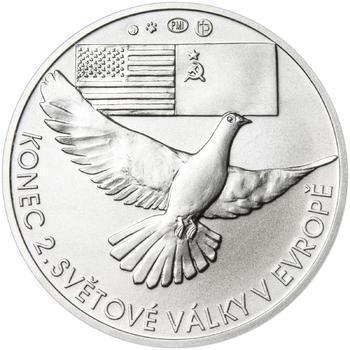 Osvobození Československa 8.5.1945 - 28 mm stříbro b.k. - 2