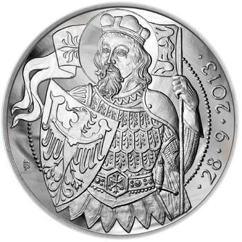 Relikvie Sv. Václava - vzor 1 - 1 Oz Ag b.k. - 2