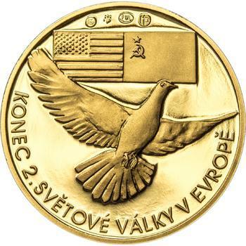 Osvobození Československa 8.5.1945 - 1/2 Oz zlato Proof - 2