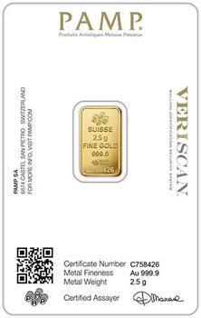 Pamp Fortuna 2,5 gram - 2