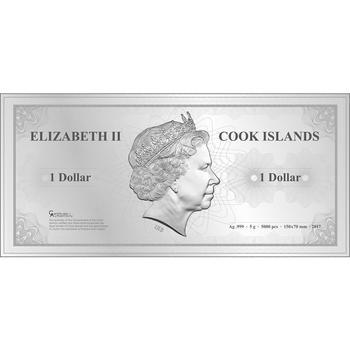 2017 Cook Islands - Skyline Dollar Foil - New York - Ag - 2