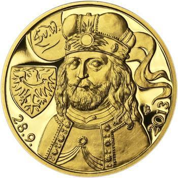 Relikvie Sv. Václava - vzor 2 -  1/2 Oz zlato Proof - 2