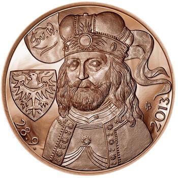 Relikvie Sv. Václava - vzor 2 -  1 Oz Měď b.k. - 2