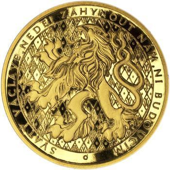 Sv. Václav na koni - Zlato Proof - 2