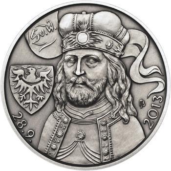 Relikvie Sv. Václava - vzor 2 - 1 Oz Ag patina - 2
