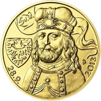 Relikvie Sv. Václava - vzor 2 -  1/2 Oz zlato b.k. - 2
