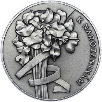 Vše nejlepší k narozeninám 25 mm stříbro patina - 2