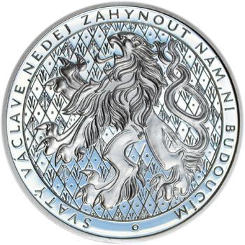 Sv. Václav na koni  - 1 Oz Ag Proof - 2