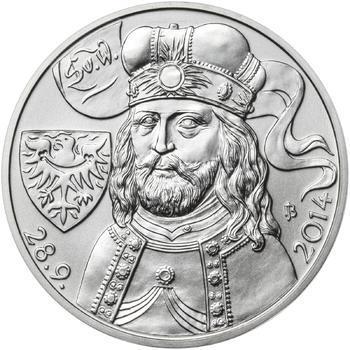 Relikvie Sv. Václava - vzor 2 - Ag malá REVERSE Proof - 2
