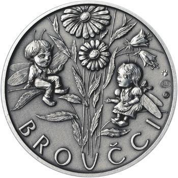 Jan Karafiát - Broučci - stříbro malá patina - 2