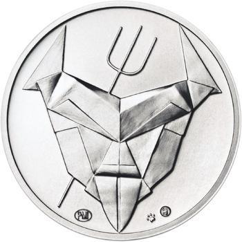 Čert a Mikuláš českého kubisty 25 mm stříbro b.k. - 2