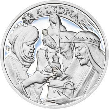Tři králové 25 mm stříbro Proof - 2