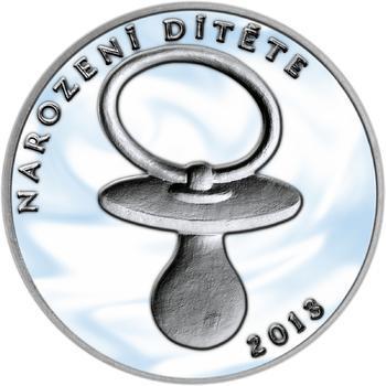Stříbrný medailon k narození dítěte 2013 - 2