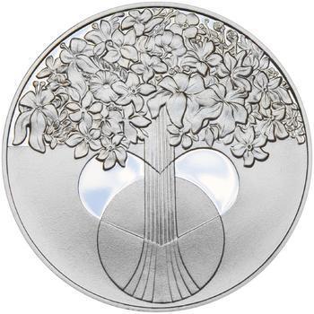 Miluji Tě 25 mm stříbro Proof - 2
