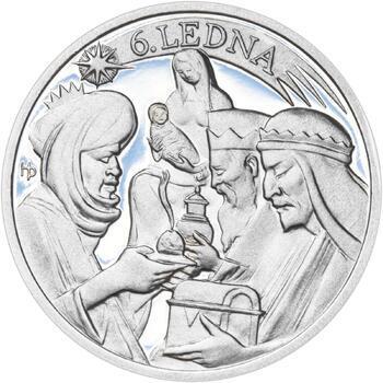 Tři králové 50 mm stříbro Proof - 2