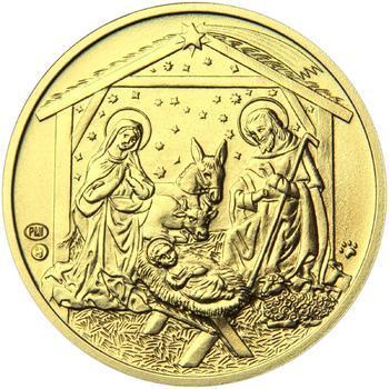 Vánoce 25 mm zlato b.k. - 2