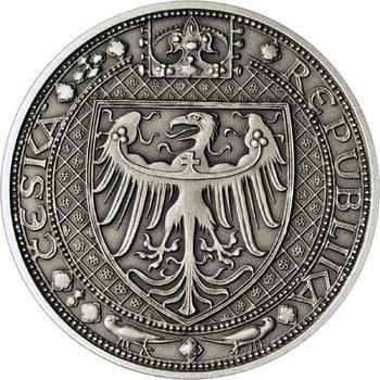 Nejkrásnější medailon IV. - Karlštejn Ag Patina - 2